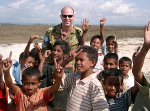 Matt with friends in Timor Leste
