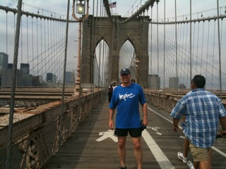 Matt on Brooklyn Bridge