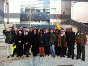 Delegation from the Commonwealth Study Conference that visited Glasgow