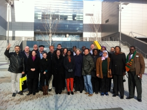 At the Glasgow Olympic Games site with colleagues from Commonwealth Studies Conference